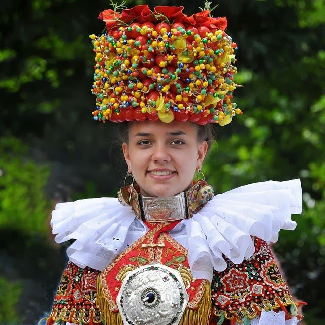 Traditional Bridal costume from Schaumburg-Lippe, Germany