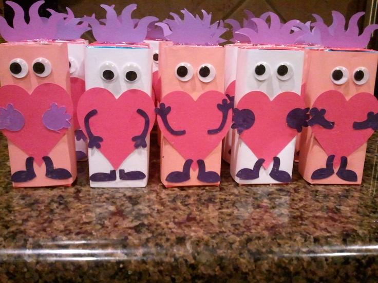 Love monster juice boxes | Valentines Inspiration | Pinterest