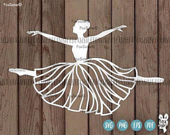 Ballerina SVG Papercut Template | Ballet Dancer svg cut file | Dancing svg | Commercial and personal use | Paper Cut Out | for Cricut Cameo