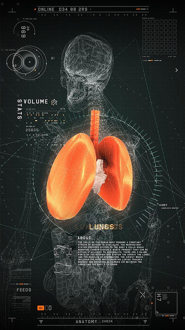 Futuristisch: Ein interaktives und medizinisches Interface von 2RISE