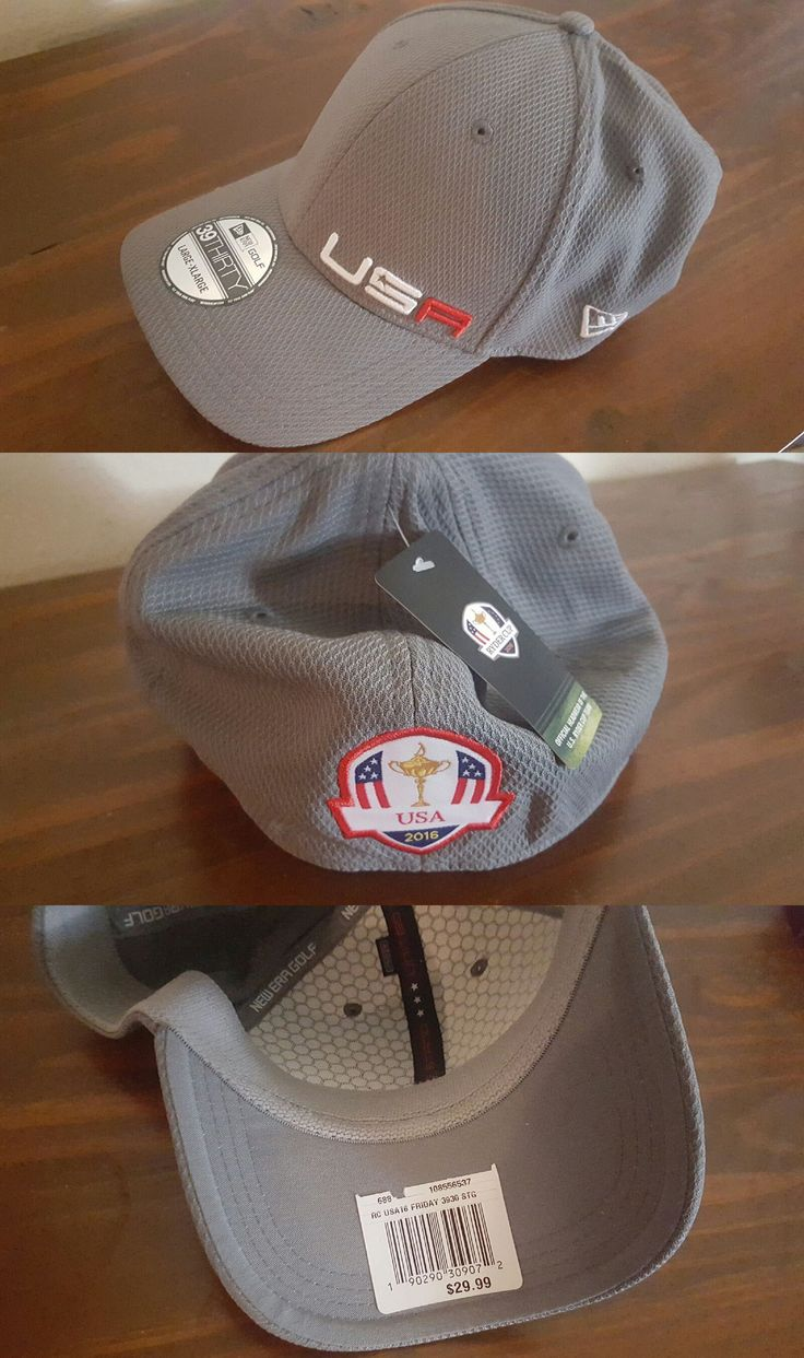 Golf Visors and Hats 158937: New Era 2016 Ryder Cup Usa Golf Hat Cap Large Xlarge Gray -> BUY IT NOW ONLY: $50 on eBay!