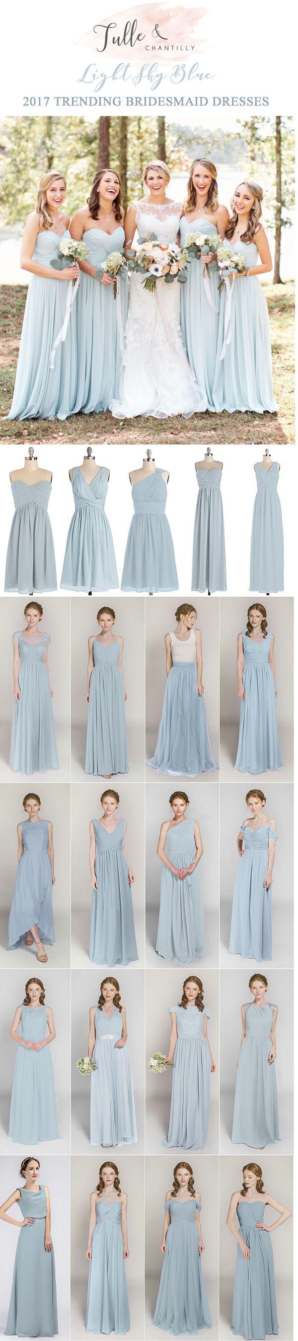 light sky blue bridesmaid dresses on a budget