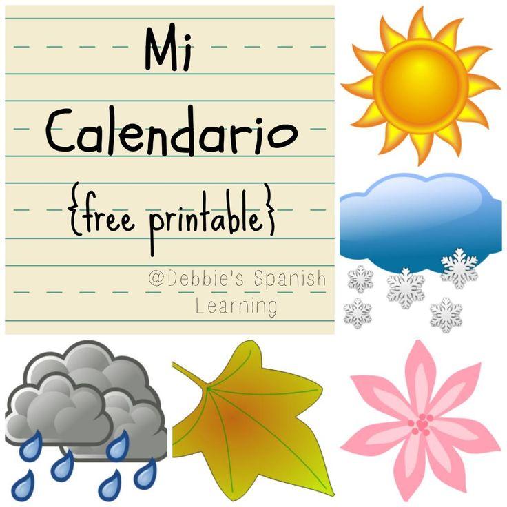 97 best WeatherEl tiempo Seasons Las Estaciones images on – Spanish Weather Worksheet
