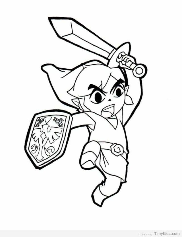 27 Wonderful Photo Of Legend Of Zelda Coloring Pages Free