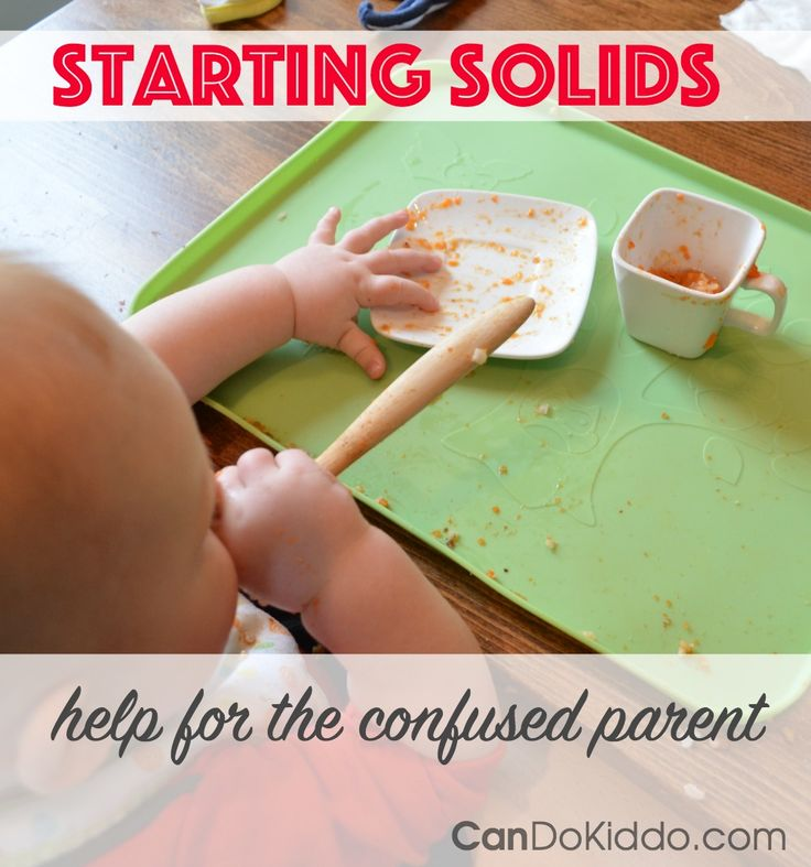 Should you start solids at 6 months? 5 months? What if your pediatrician recommends it at the 4 month check-up? Starting solids is so confusing - here's one mommy's attempt to find some answers. CanDo Kiddo
