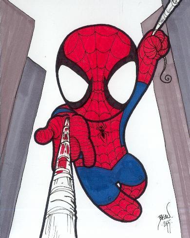 Chibi-Spider-Man 10. by hedbonstudios.deviantart.com on @DeviantArt