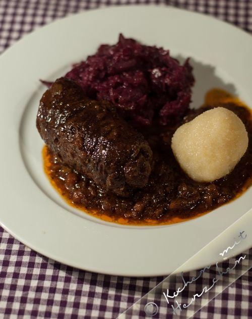 Kochen mit Herzchen - ♥ Mein Koch-Tagebuch mit viel Herz ♥: Rouladen wie bei Oma