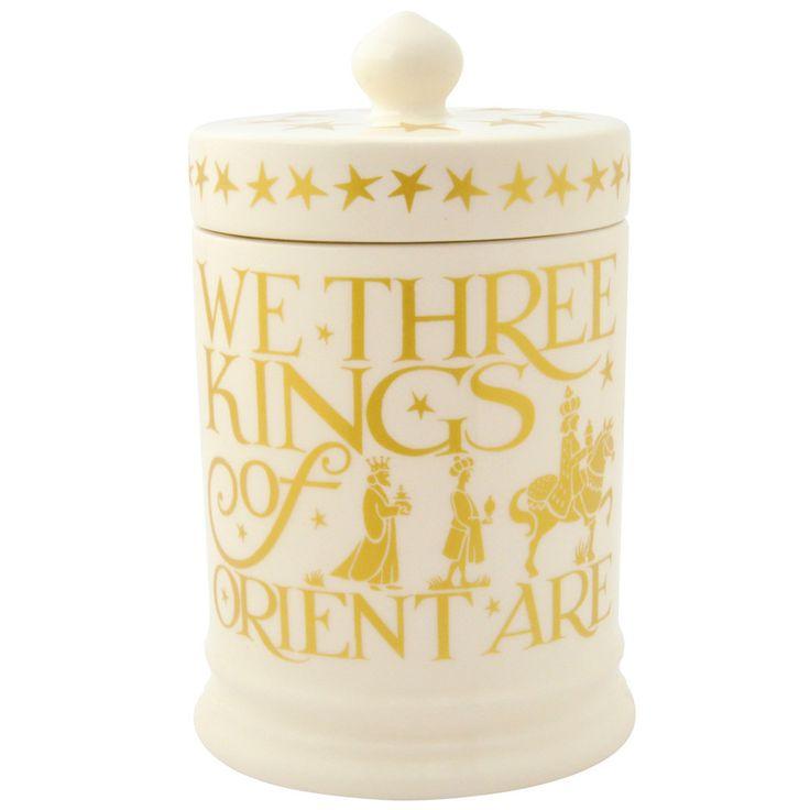 Nativity Gold Large Lidded Candle Boxed