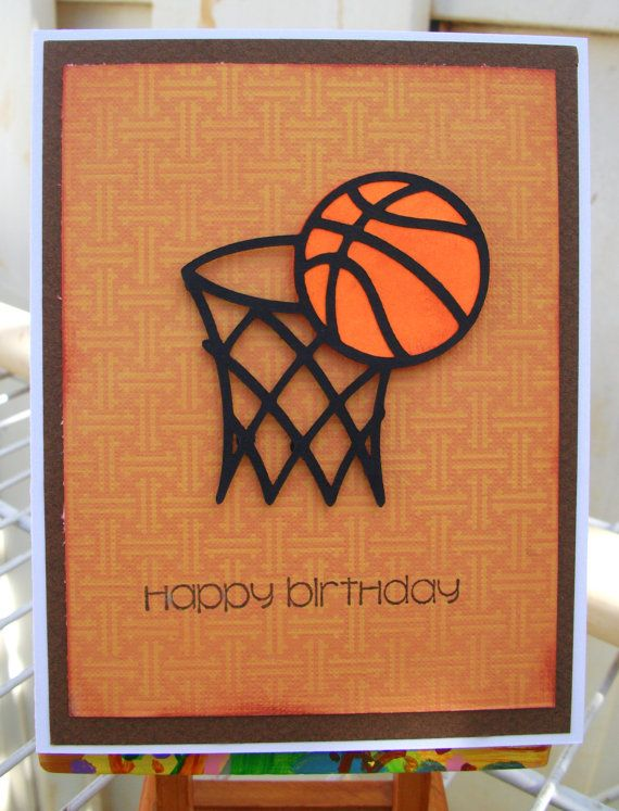 Handmade Happy Birthday / Dad / Baksetball card by nadyasworld, $2.50