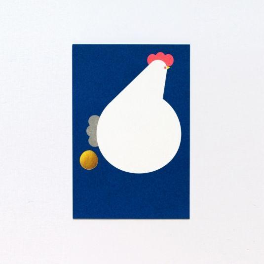 岩永和也デザイン 年賀状【ニワトリ】NYC-G2