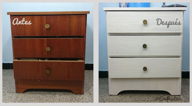 "Craftástico: ideas ""hand made"": Pintar mueble viejo con Chalk Paint"