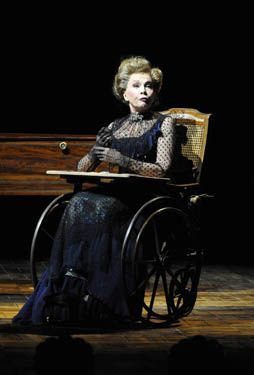 Leslie Caron in February 2010, she played Madame Armfeldt in A Little Night Music at the Théâtre du Châtelet in Paris, which also featured Greta Scacchi and Lambert Wilson.