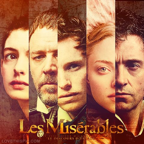 Les Miserables (2012) | Starring Hugh Jackman, Russell Crowe, Anne Hathaway, Amanda Seyfried, Sacha Baron Cohen, Helen Bonham Carter, & Eddie Redmayne. | Based on the novel by Victor Hugo, 'Les Miserables' travels with prisoner-on-parole, 24601, Jean Valjean, as he runs from the ruthless Inspector Javert on a journey beyond the barricades, at the center of the June Rebellion. Meanwhile, the life of a working class girl with a child is at turning point as she turns to prostitution to pay…