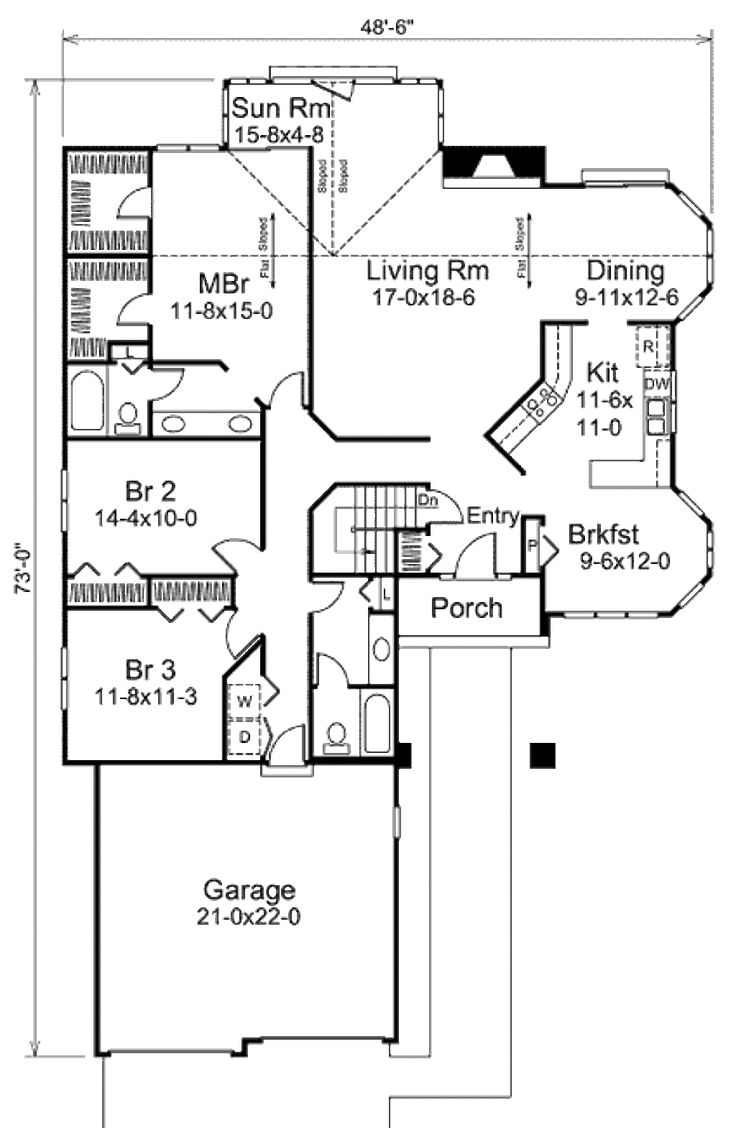 370 best house plans images on pinterest car garage floor plans houseplans com main floor plan plan 57 430 house improvementsranch