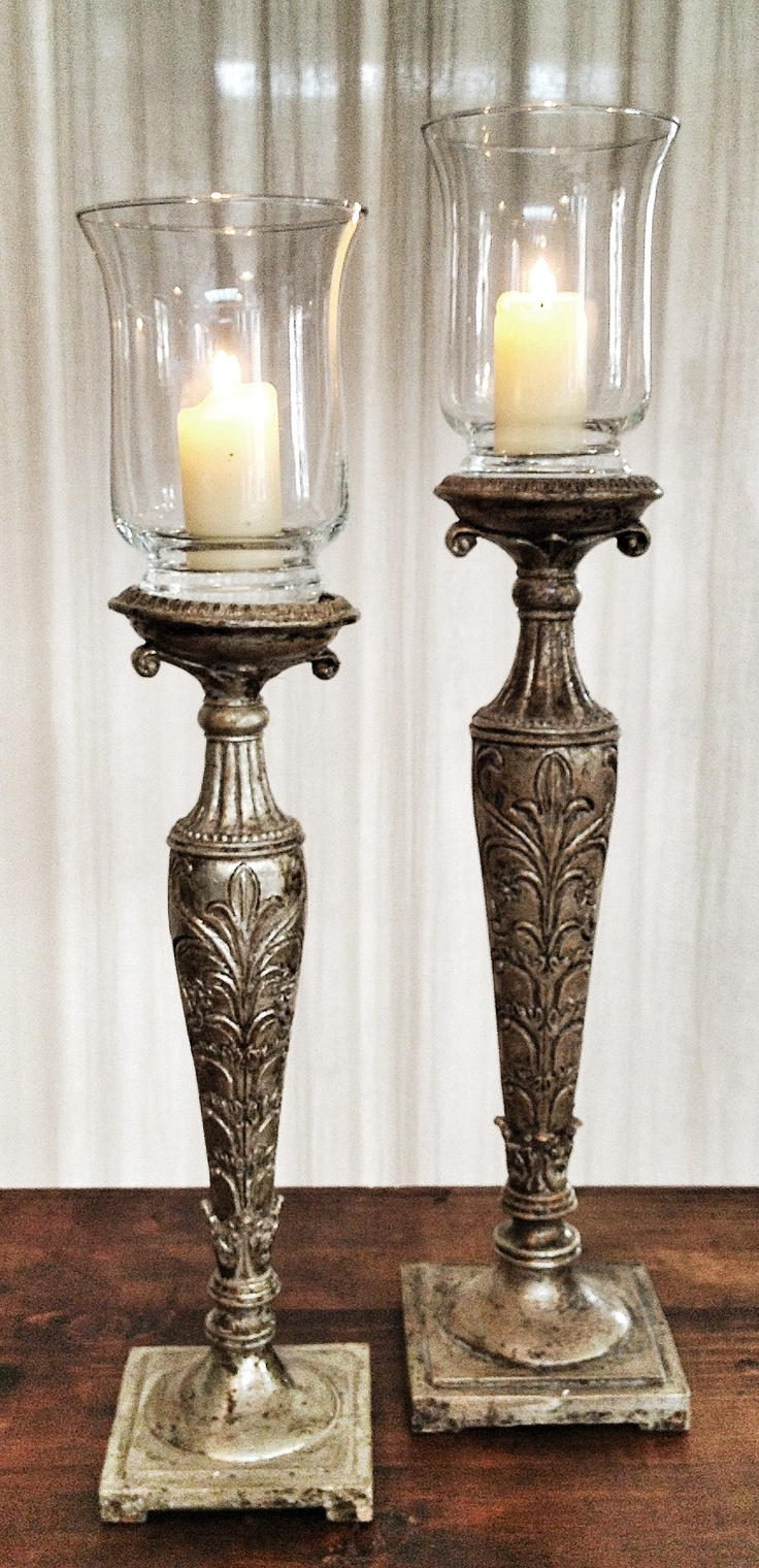 Aged sulver candle holders (big pcs 4 small pcs 10)