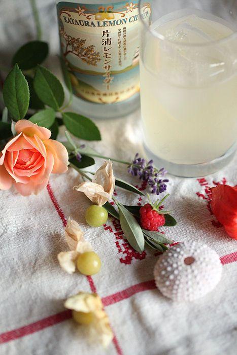 Lemon sparkling water: レモンサイダー