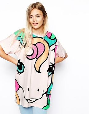 ASOS Tunic Top with My Little Pony Glitter Print | 5SOS, anyone?