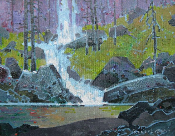 Fairy Falls II by Robert Genn SFCA presented by Hambleton Galleries