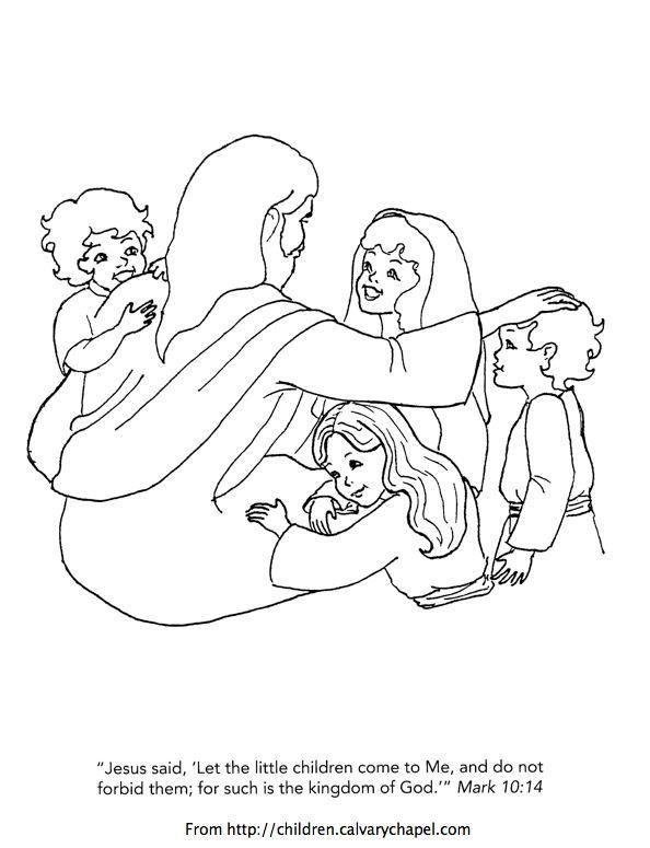 Following Jesus Coloring Page Sketch