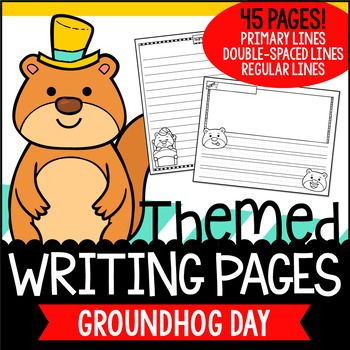 A collection of writing pages themed with Groundhog Day designs! A freebie to celebrate reaching 6500 followers in our TPT shop! 6500 Thank-yous! Included in this set are three designs that come in five layout variations, and in three writing line options. Forty-five pages in total!