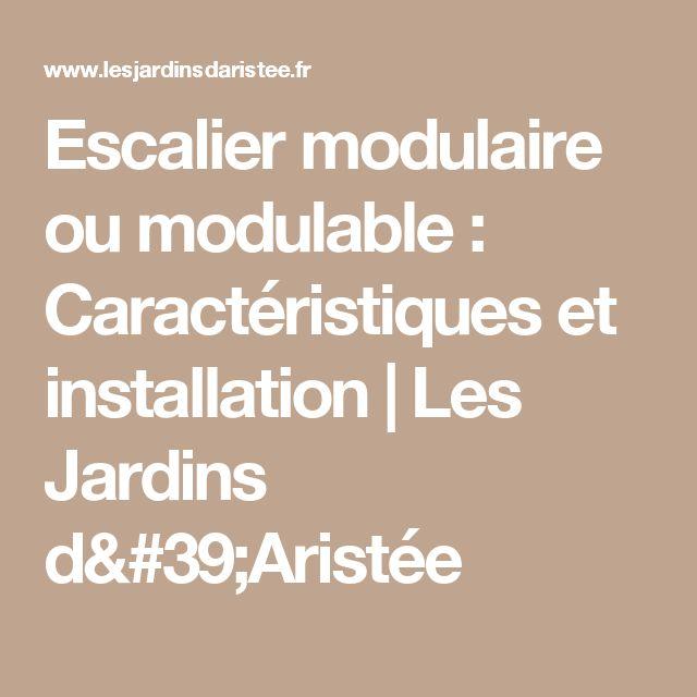 Escalier modulaire ou modulable :  Caractéristiques et installation | Les Jardins d'Aristée