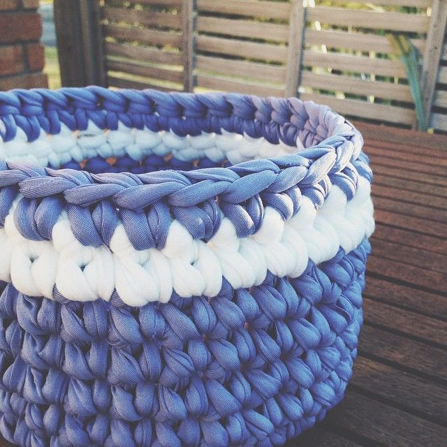 Crochet Basket by Once Upon a Whim using TrapArt yarn