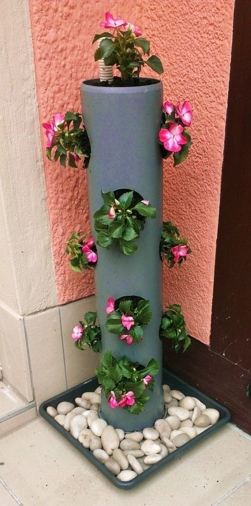 Cool PVC Pipe Planters That Will Beautify Any Garden - Top Dreamer