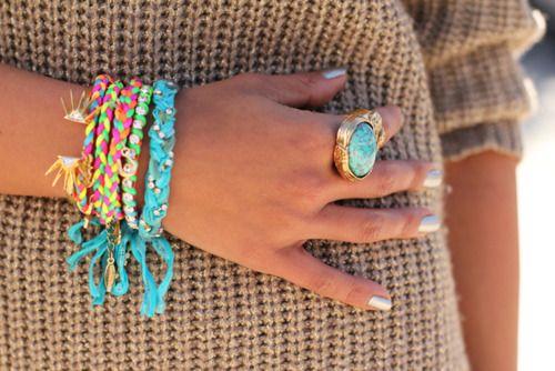 fun!Blue, Turquois Jewelry, Vibrant Colors, Braids Bracelets, Neon Colors, Summer Accessories, Arm Candies, Friendship Bracelets, Bright Colors