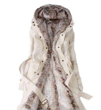Fashion Winter Necessary Lady's Slim Warm Coat Beige Ladies Outerwear (M, Beige) Snow Sword. $56.99