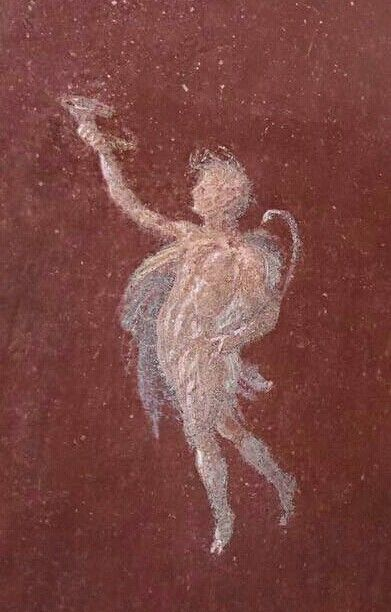 Detail of a fresco from the Casa delle Pareti Rosse. Pompeii