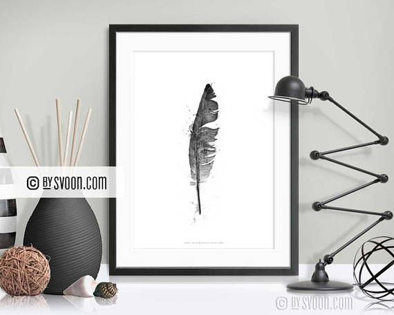 bySvoon - Simple does it. Fashion Prints for your home. We make prints we love and sell prints we make. Prints #Etsy www.bysvoon.etsy.com Feather Print Feather Poster Black & White Feather Drawing