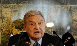 The financier George Soros finances the Open Society Foundation and the Open Society Institute's Assistance Foundation, both of which figured on a list of 12 organisations sent to the Russian prosecutor.
