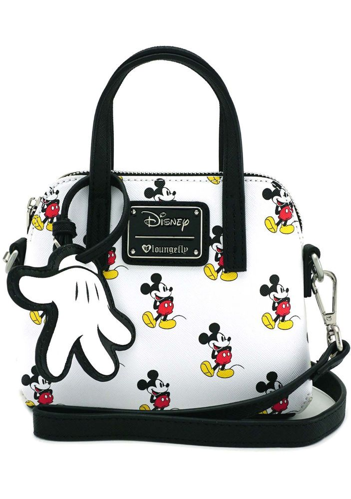b859b1fa0cda NEW Loungefly X Disney Mickey Print Micro Dome Crossbody Bag - SALE # Loungefly #CrossbodyBag
