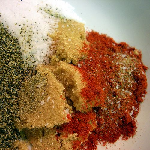 For a delicious and simple rub for ribs, steak, chicken, etc. use equal parts: black pepper, kosher salt, paprika, brown sugar. Grill and enjoy!
