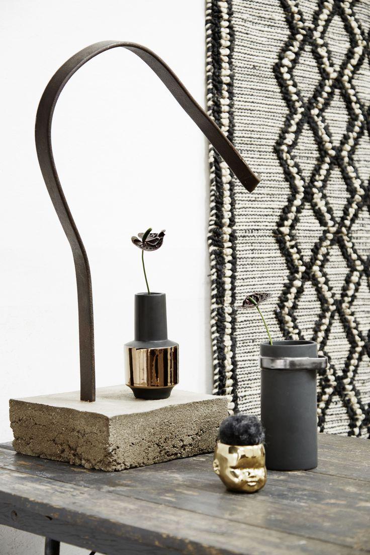 Retro #copper and black vase http://www.aprilandthebear.com/home-accessories/retro-black-and-copper-vase