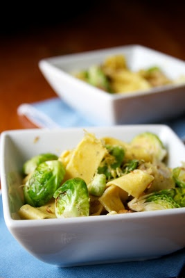 Brussels sprouts are loaded with vitamins, calcium and protein. Toss them with pasta and you've got yourself a tasty and healthy meal.