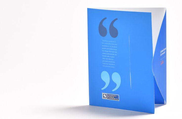 Custom printed one pocket folder with tuck flap closure - Corporate Image