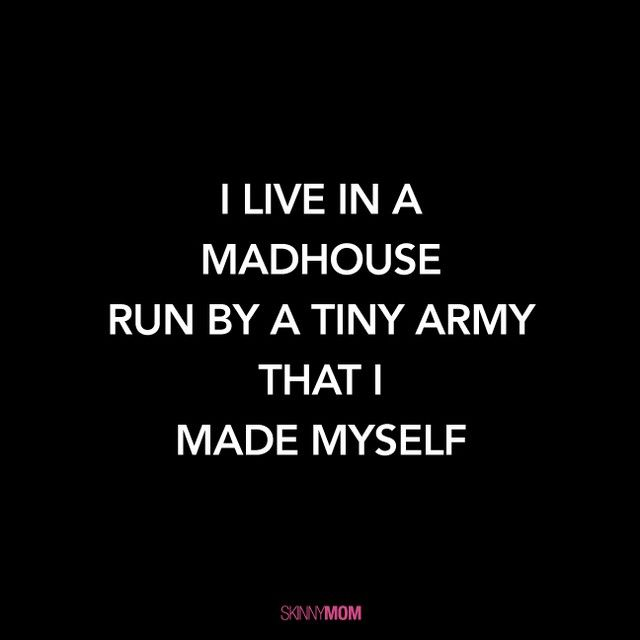 DOUBLE TAP if you created a powerful little army TAG a mama who can relate! #skinnymom #funnygram #momlife