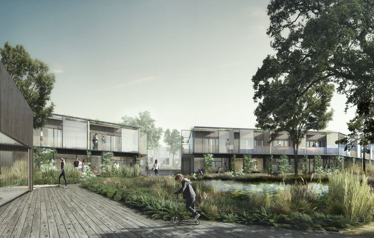 White Arkitekter Blurs the Line Between Built and Natural in Housing Project Design,© White Arkitekter and Beauty and the Bit