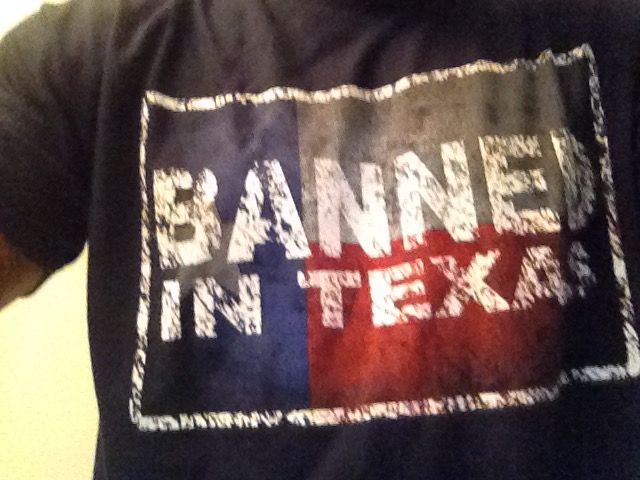 Men's banned din Texas T-shirt. Small - 5XL. . Buy now from our SCM  Facebook store ..