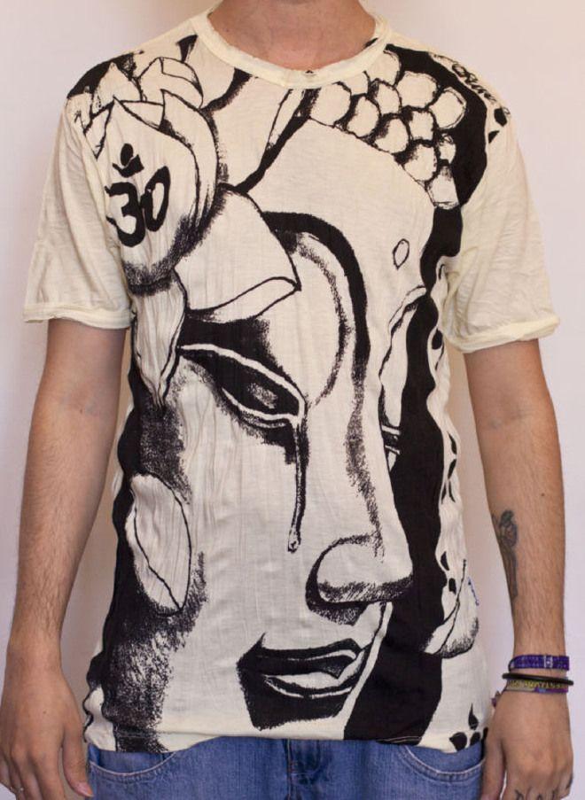 T-Shirt Maglietta Estiva Sure Buddha Nirvana Goa Rave Hippie Yoga Ohm Buddismo