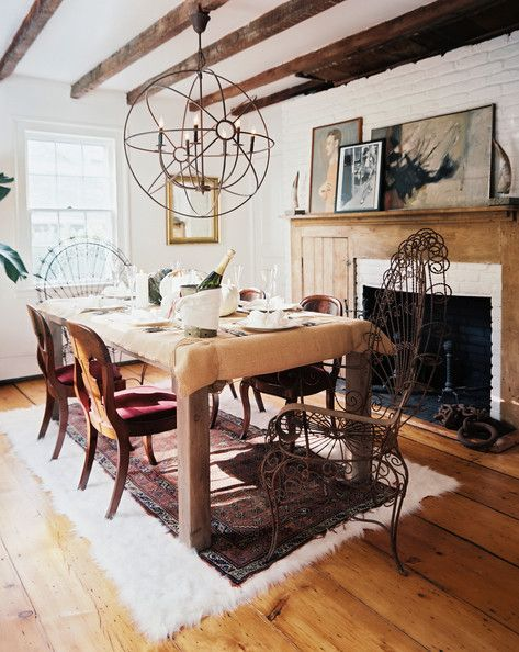 throwback home tour ari weekend getaway rustic dining room