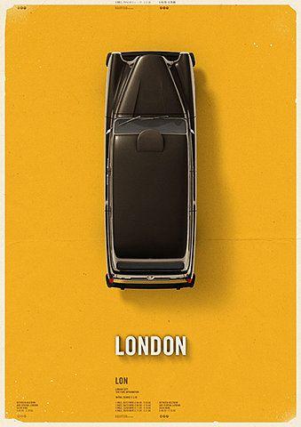 City Cab Poster by Mehmet Gozetlik | TrendLand -> Fashion Blog & Trend Magazine