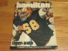 Canadian Football League 1972 HAMILTON TIGER-CATS vs MONTREAL ALOUETTES Program