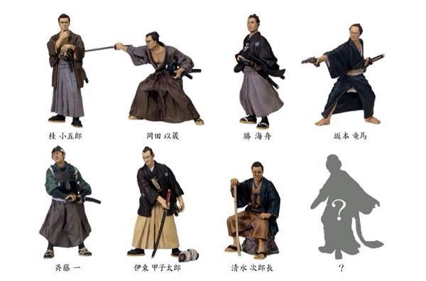 Samurai Figure Set Furuta Painted New Unopened Full 54mm ...