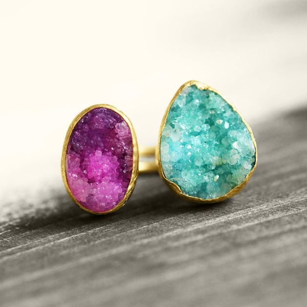 Trend Report 2014: Goldener Ring mit Stein // golden ring with precious gem by koshikira via DaWanda.com