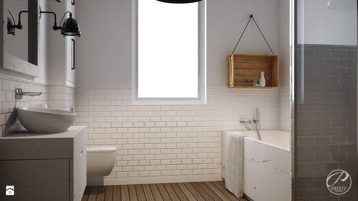 Łazienka w stylu skandynawskim - zdjęcie od Progetti Architektura - Łazienka - Styl Skandynawski - Progetti Architektura