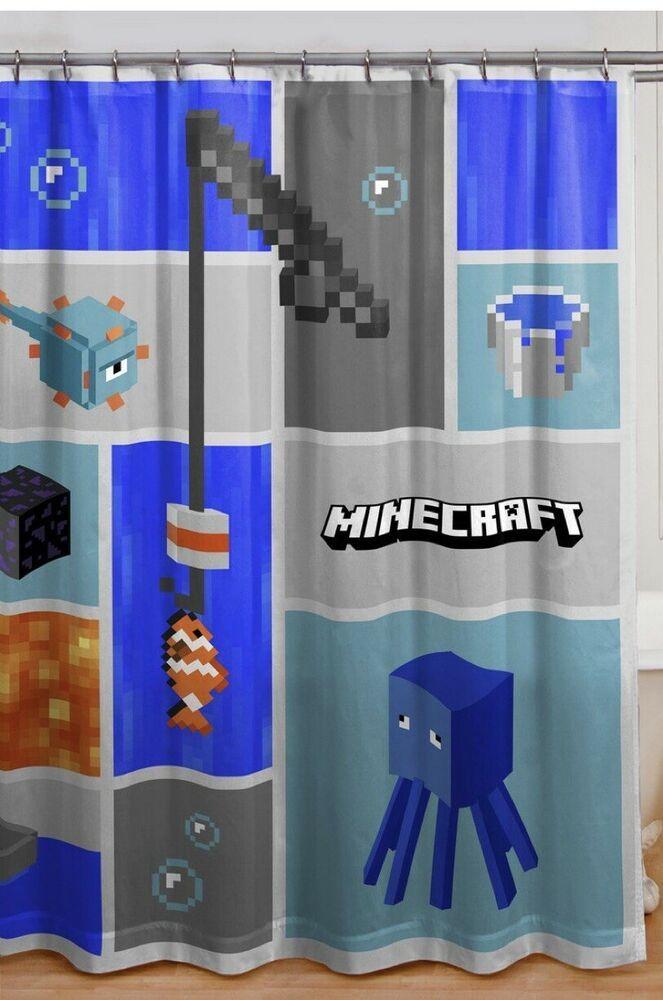 shower curtain minecraft shower curtains