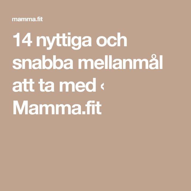 14 nyttiga och snabba mellanmål att ta med ‹ Mamma.fit