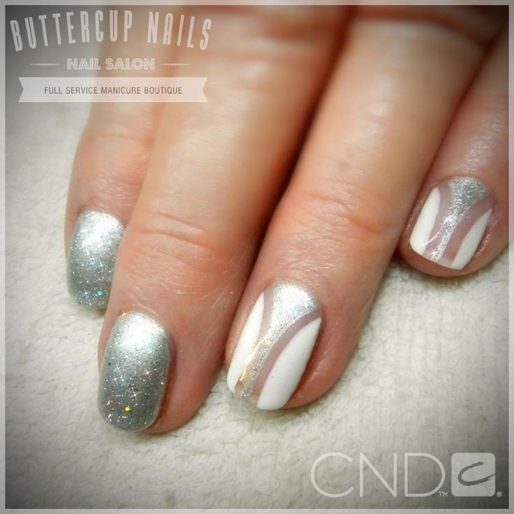 CND Shellac in Silver Chrome, Ice Vapour and Cream Puff.  #CND #CNDWorld #CNDShellac #Shellac #nails #nail #nailstagram #naildesign #naildesigns #nailaddict #nailpro #nailart #nailartist #nailartdesign #nailartofinstagram #nailartdesigns